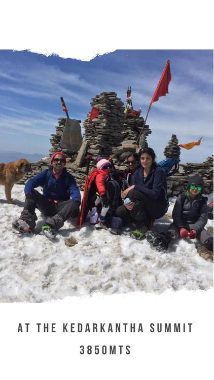 Parikshit Family at Kedarkantha Summit