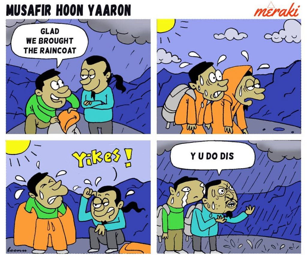 Bad Weather outdoor comic