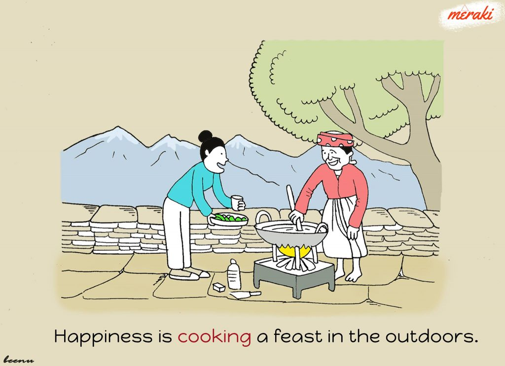 Cooking in Village