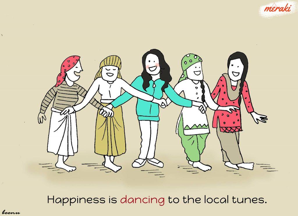 Dancing on folk songs